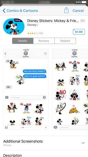 Mickey Stickers