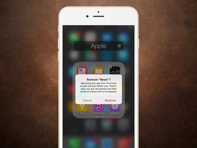iphone remove apple apps