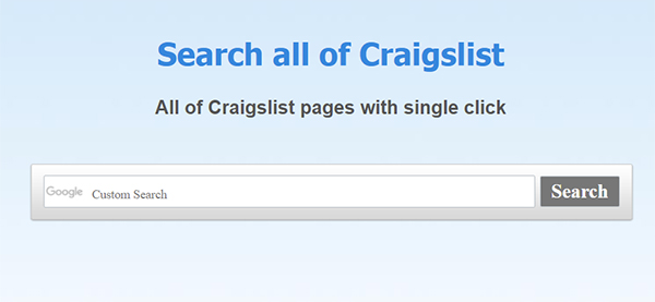 How to Search All of Craigslist at Once