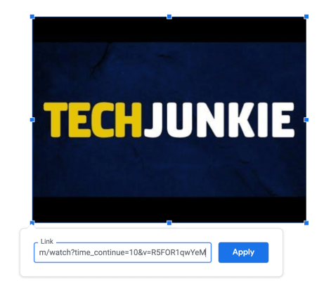 Insert link to YouTube video in image