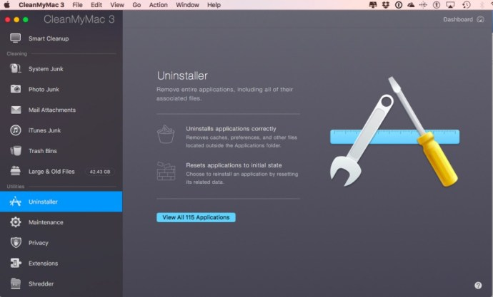 Uninstaller CleanMyMac 3