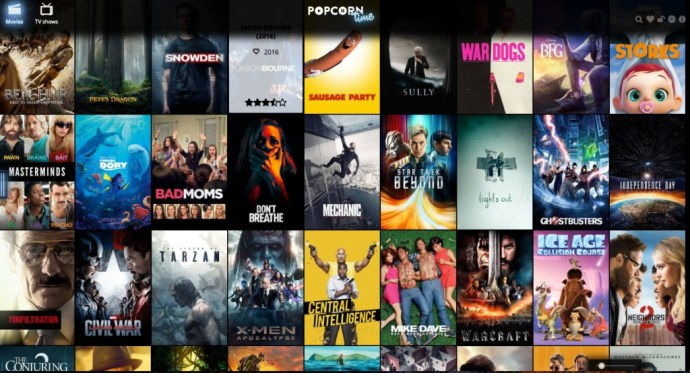Popcorn Time website