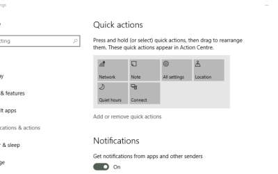 How to open and manage action center in Windows 10-1