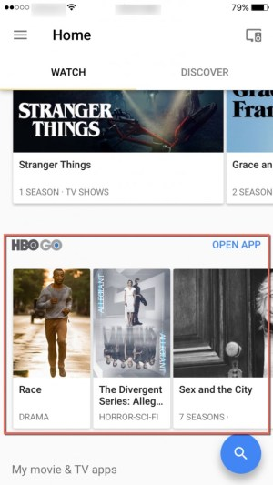 HBO GO Google Home App