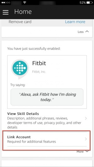 Link Fitbit