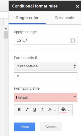 Get more from Google Pages with conditional formatting-2