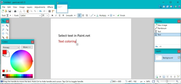 How to select and work with text in Paint.net-3