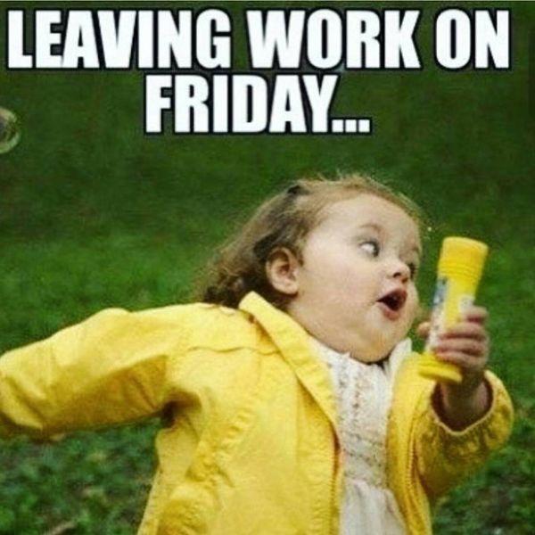 Уходя с работы в пятницу