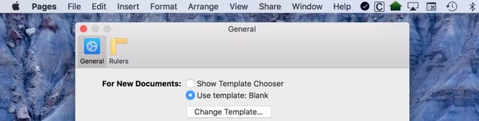 iwork pages open blank template