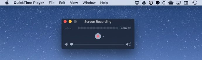 quicktime screen recording window