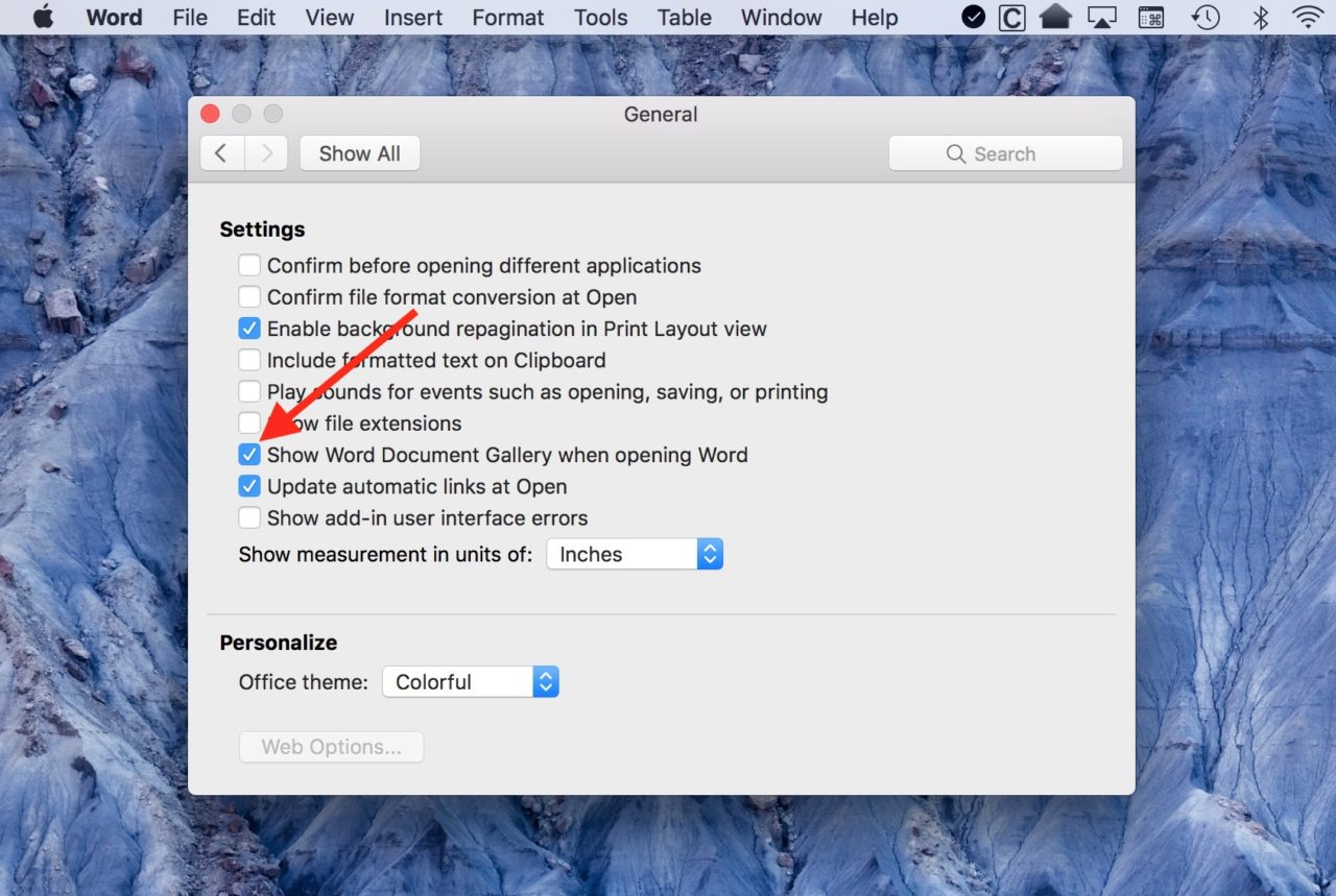 How to Configure Microsoft Word for Mac to Launch with a New Document