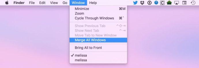 Slå samman alla Windows