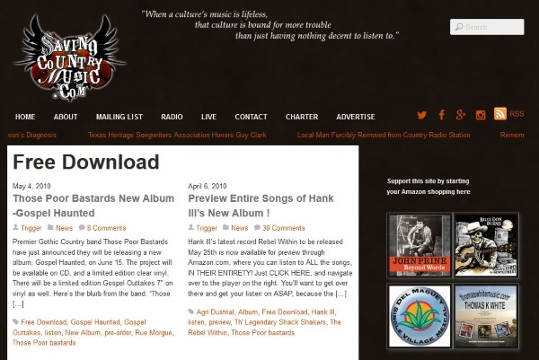Where to download free country music7