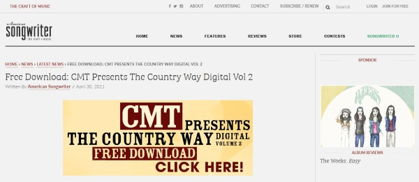 Where to download free country music 8