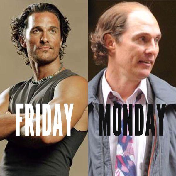пятница, понедельник