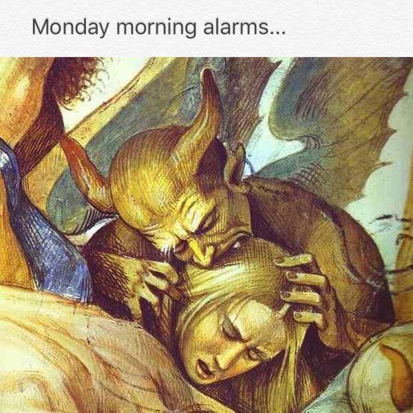 будильник утром в понедельник