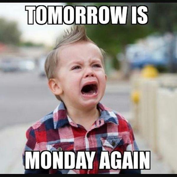завтра снова понедельник