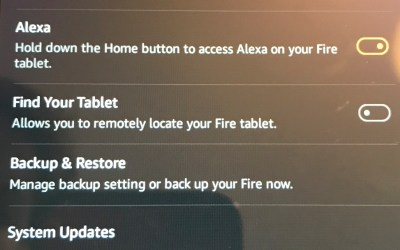 Kindle Fire Reset to Factory default