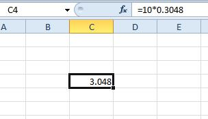 How To Convert Feet to Meters in Excel