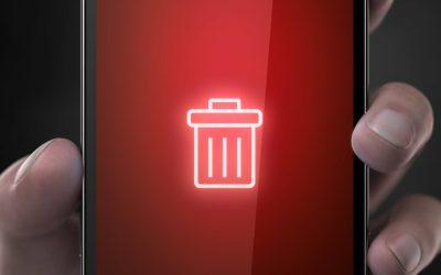 iphone delete