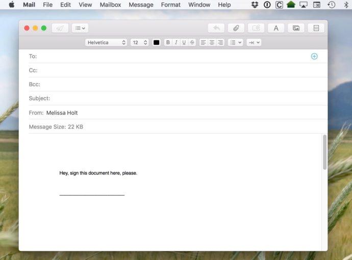 mac mail attachment
