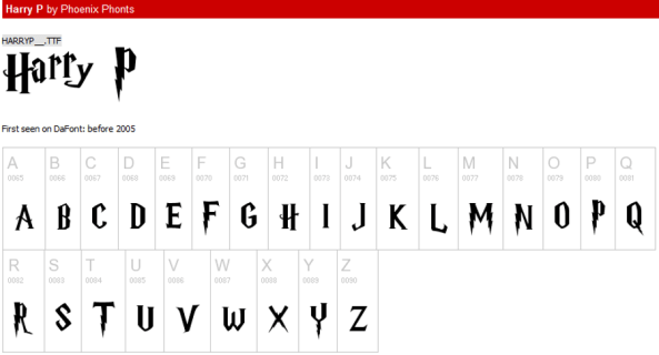 Where To Find the Harry Potter Font