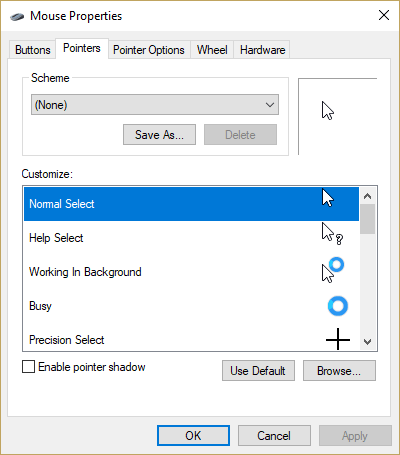 7e9222a78b4 If ClickLock is turned on, you can press the mouse button, then drag, and  press the mouse button again to end the drag.