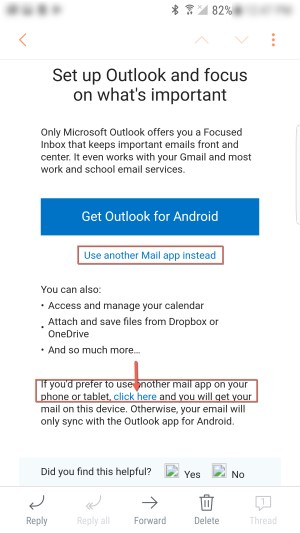 Use email app