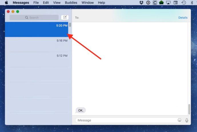 messages mac conversation