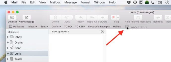 favorite mailboxes mac mail