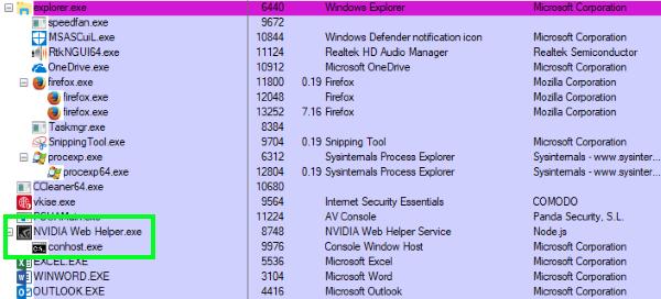 firefox process console window host