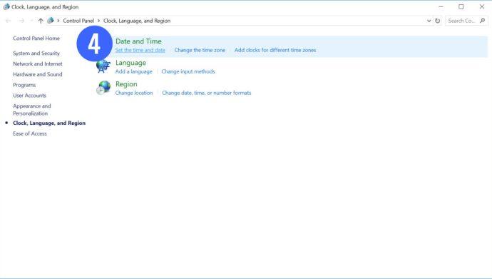 windows 10 date time settings control panel
