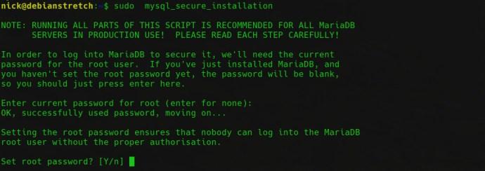 MariaDB security