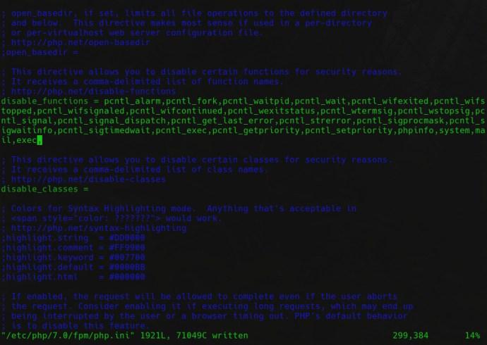 Nextcloud php.ini config