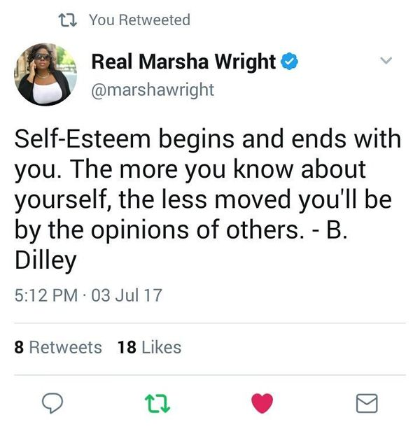 Self-esteem Begins and Ends With You.