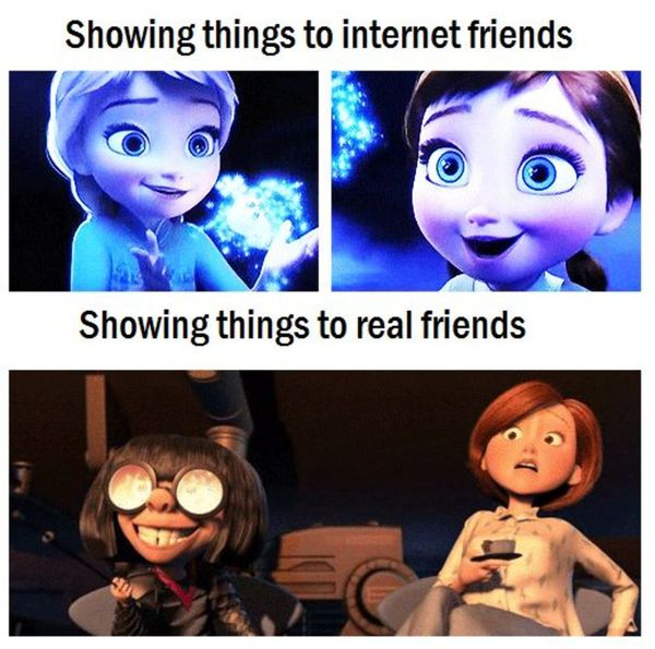 Show things to friends on the internet Show things to friends