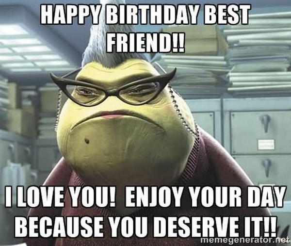cool happy birthday best friend meme