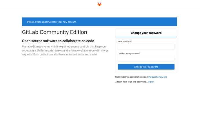 Set up a Gitlab account