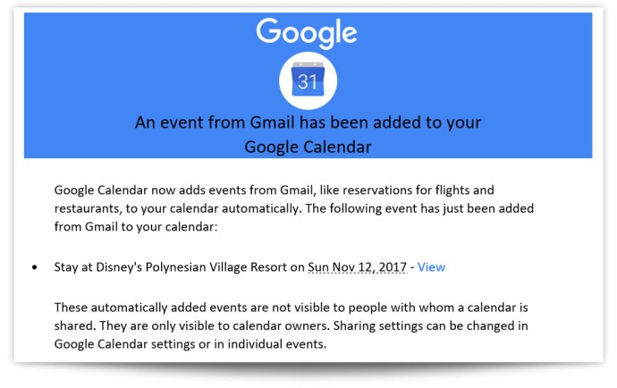 gmail calendar event email