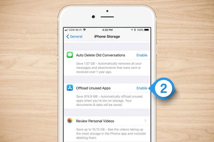 iphone offload unused apps