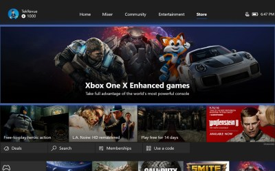 xbox one store games