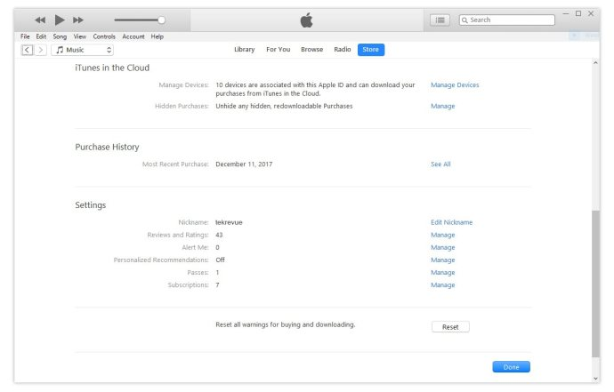itunes windows subscriptions