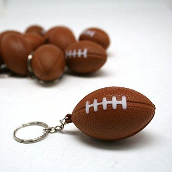 Foam Football Keychains
