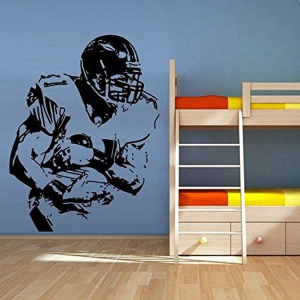 Wall Decal Vinyl Sticker Decals Football Rugby Sport Helmet Man
