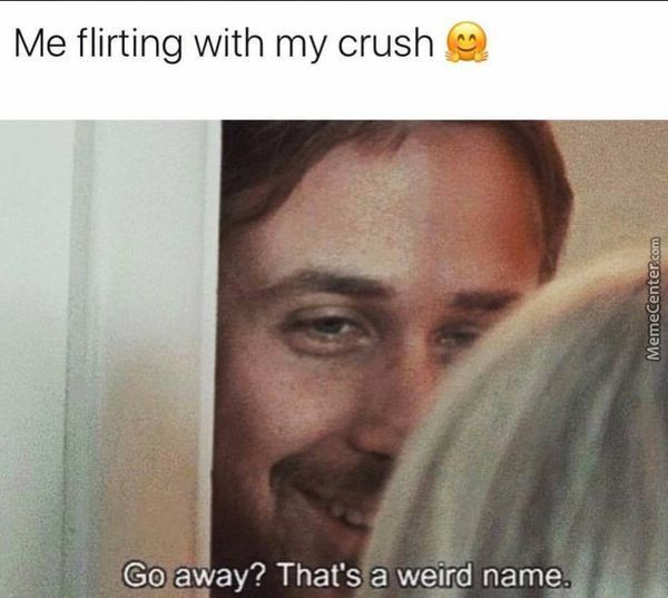I flirt with my love.  Leaving?  It's a strange name.
