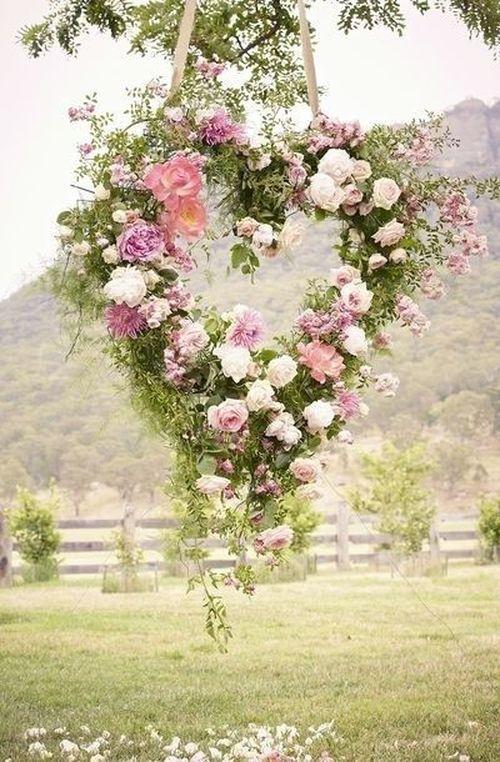 wreath in the shape of heart