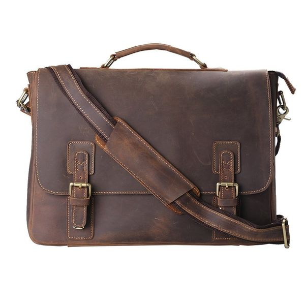 Men's Leather Messenger Shoulder Bag