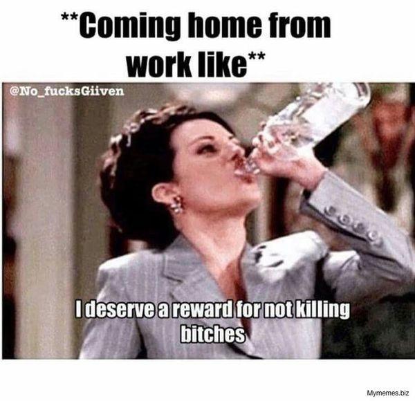 Мем с веселым окончанием работы