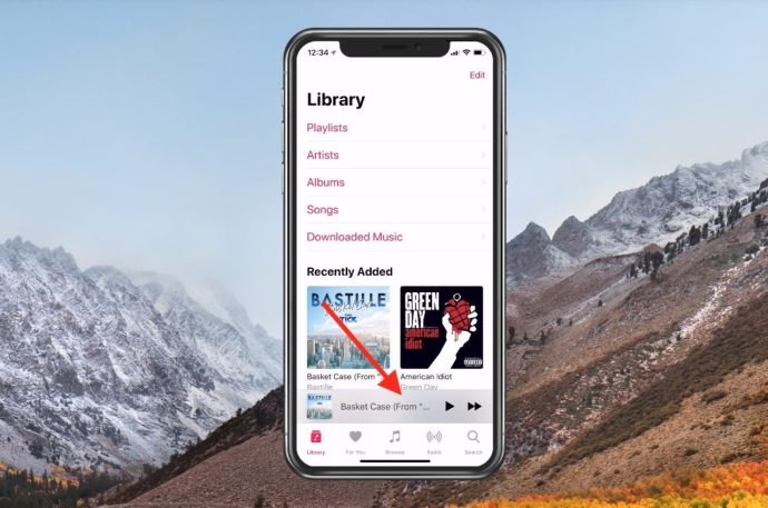 Song Playing in Music App