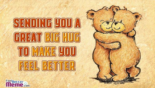 Shockingly big hug meme
